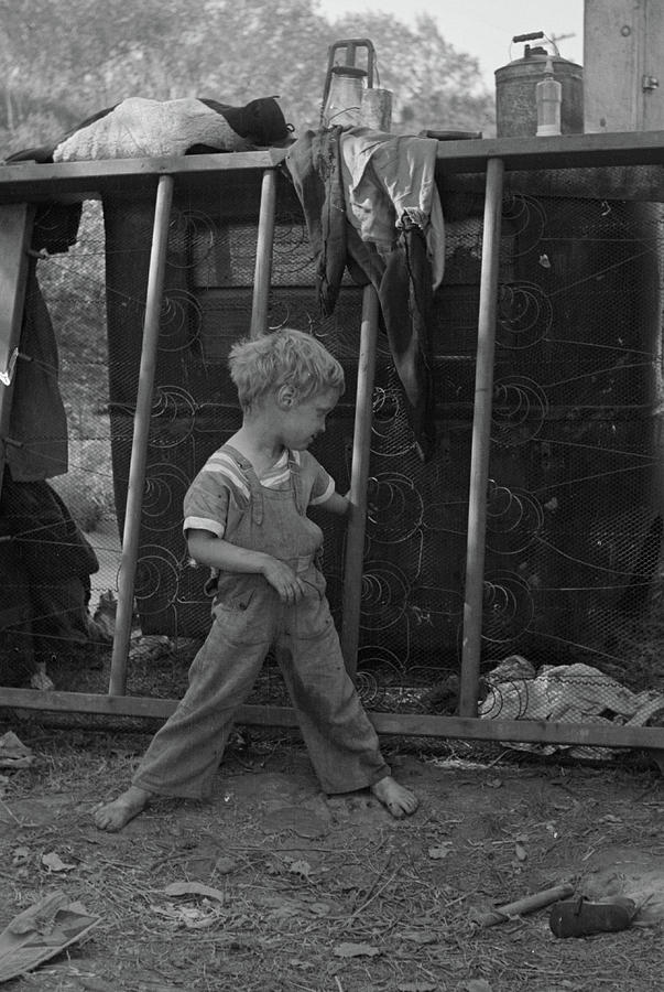 Son Of Destitute Migrant, American River Camp, Near Sacramento, California,  1936