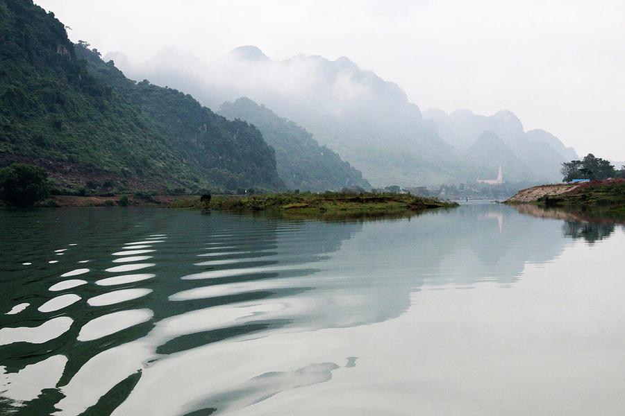 Son River, Phong Nha Caves, Quang Binh Photograph by Pinnee
