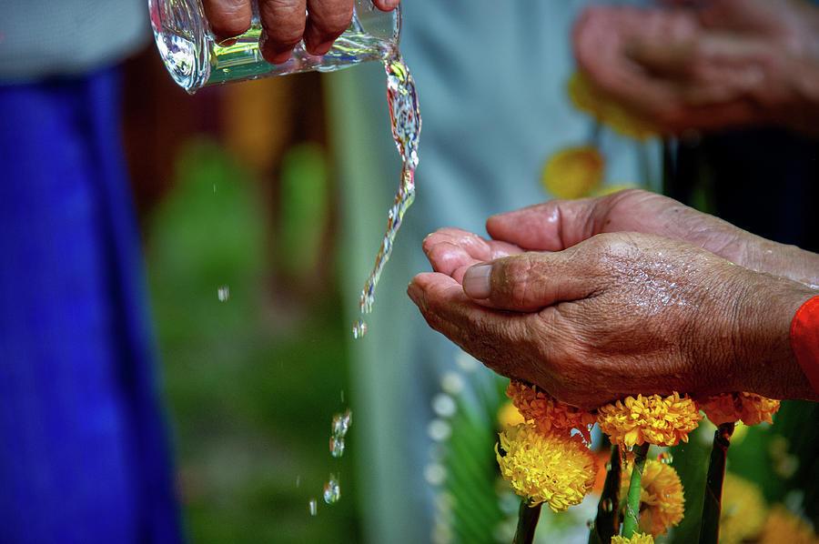 Songkran Water Blessing by Lee Craker