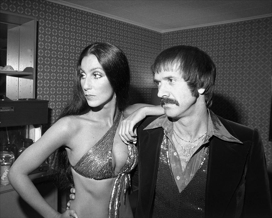 Sonny And Cher Get Together In Their Photograph by New York Daily News Archive