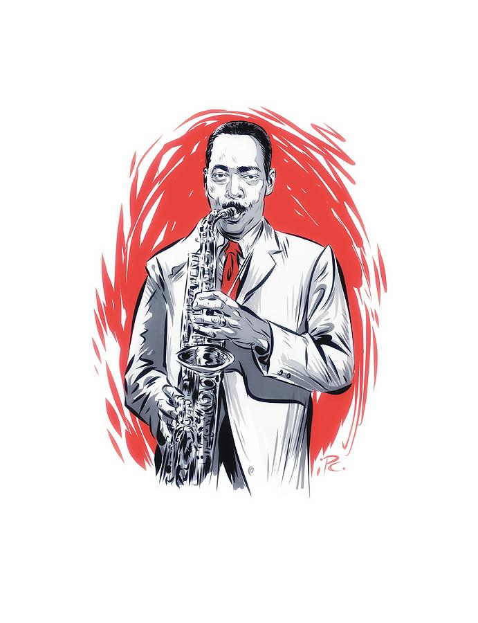 Sonny Stitt Digital Art - Sonny Stitt - An Illustration By Paul Cemmick by David Richardson