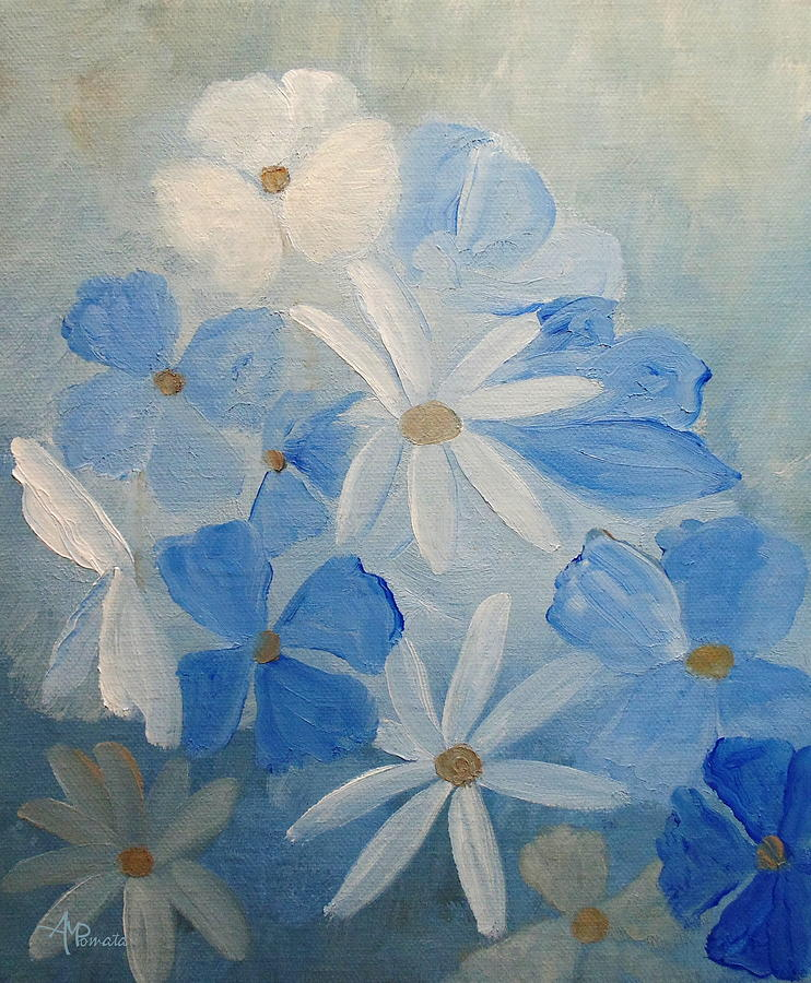 Soothing Blue by Angeles M Pomata