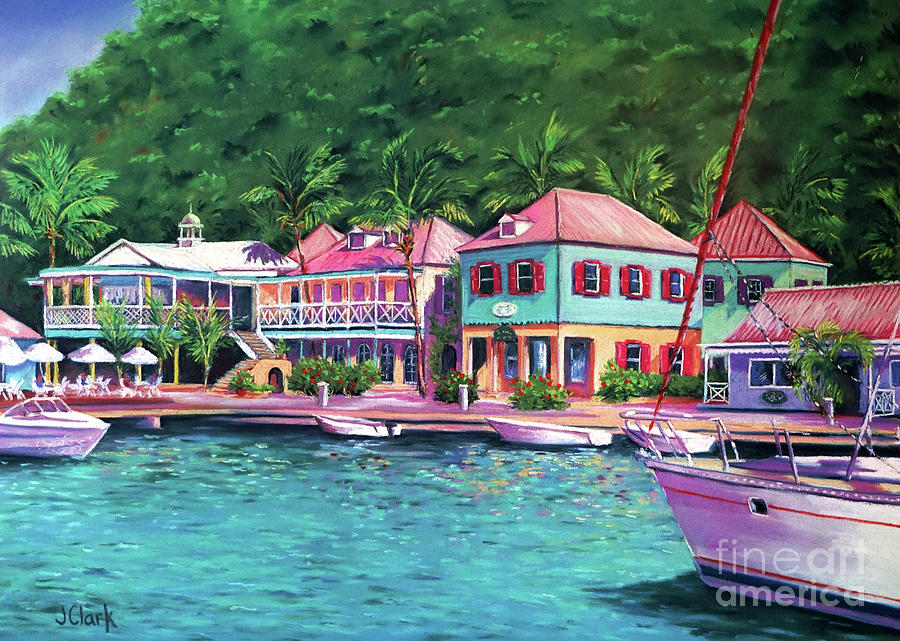 Caribbean Painting - Sopers Hole Tortola  16x23 by John Clark
