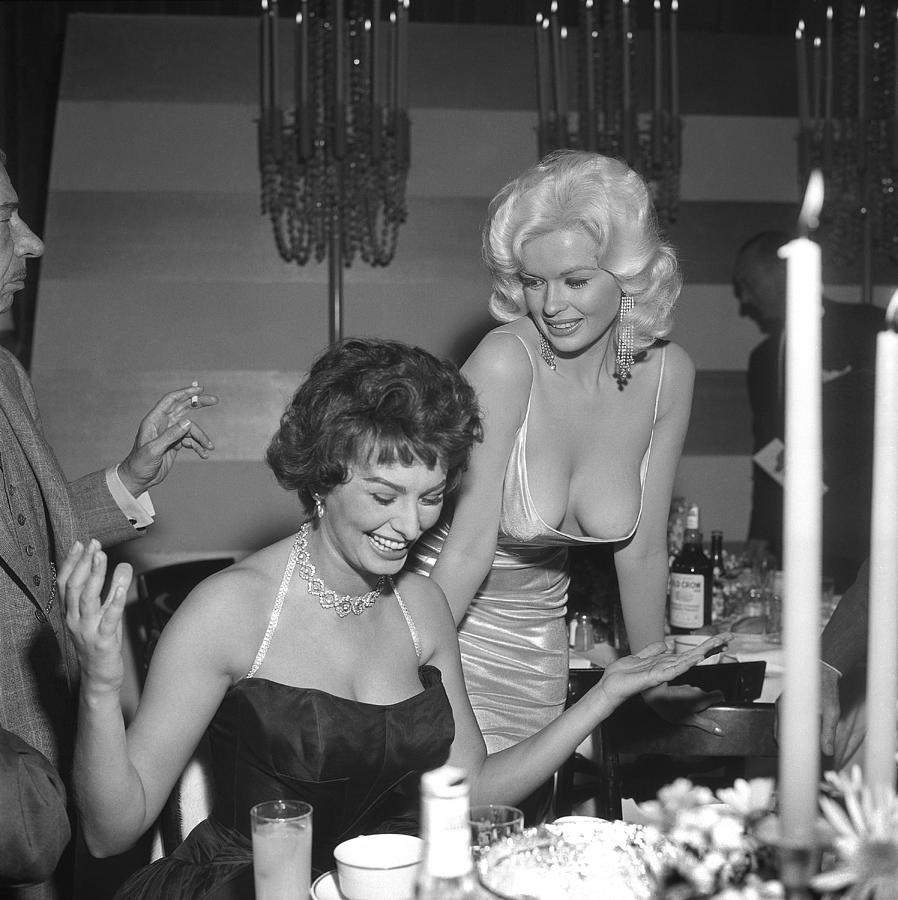 Sophia Loren And Jayne Mansfield At Photograph by Michael Ochs Archives
