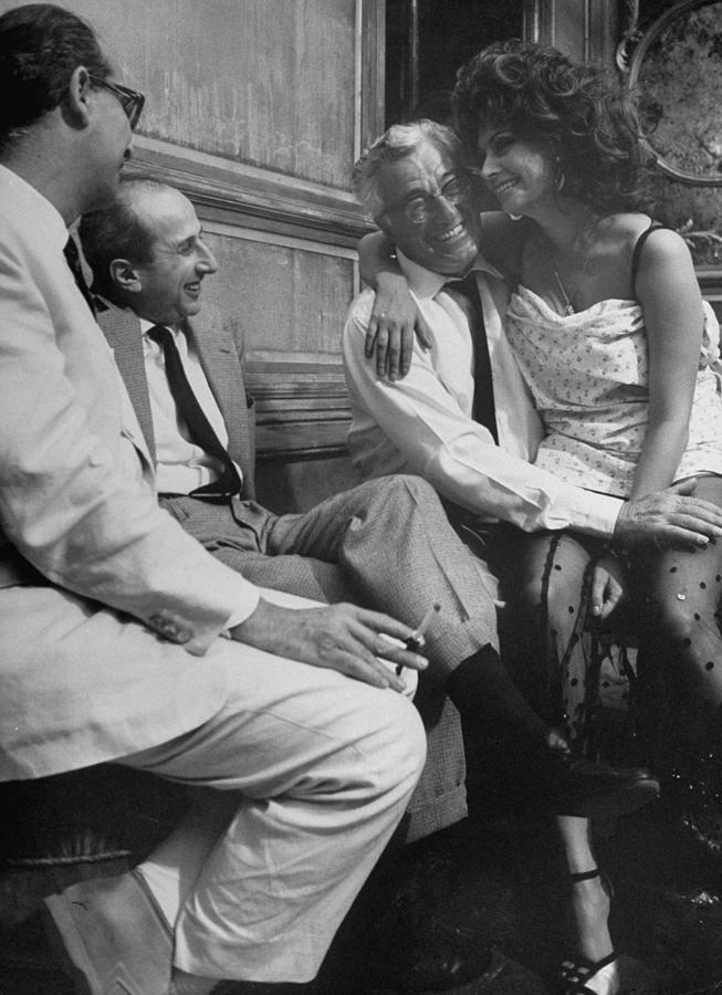 Sophia Lorenvittorio De Sica Photograph by Alfred Eisenstaedt