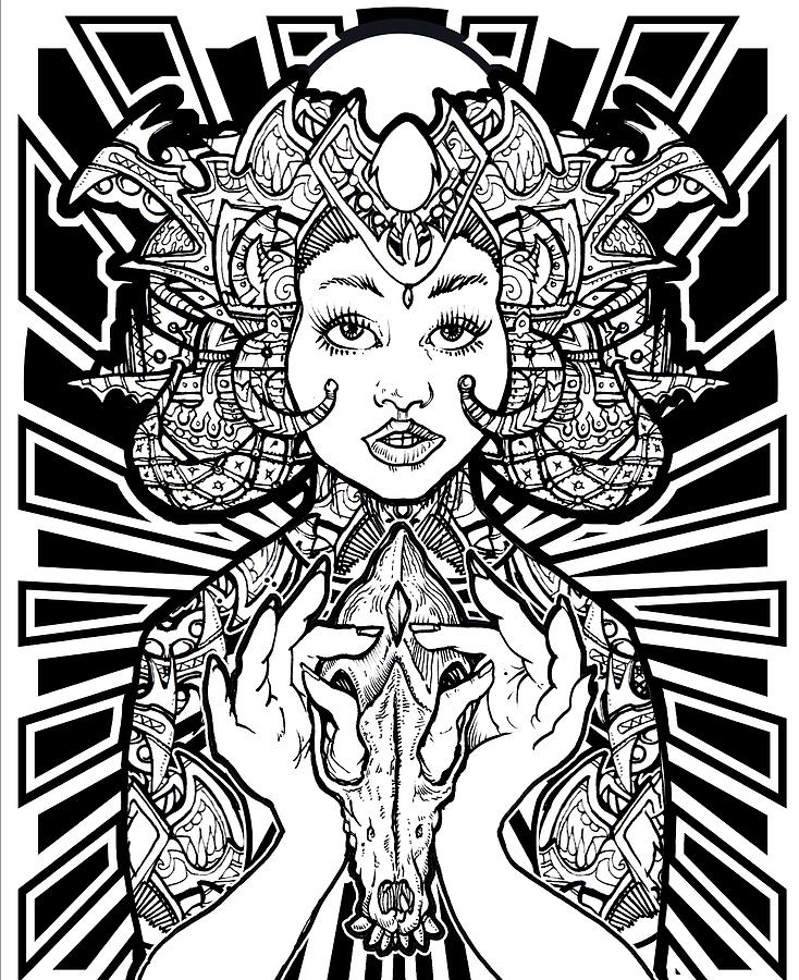 Masonic Drawing - Sophia Of Light by Thomas Ambrose DENNEY