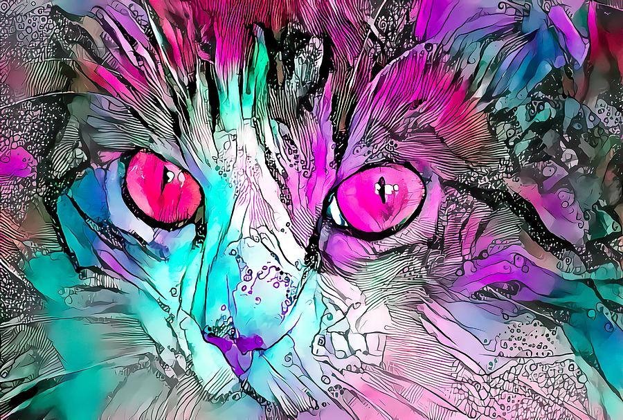 Sophisticated Kitty Colors Pink Eye by Don Northup