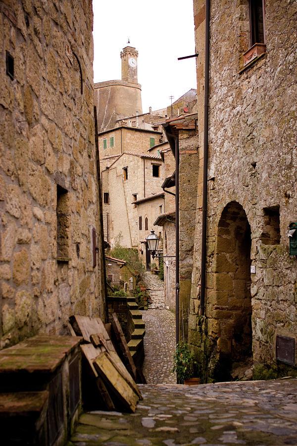 Sorano, Clock Tower Photograph by Luca Deravignone