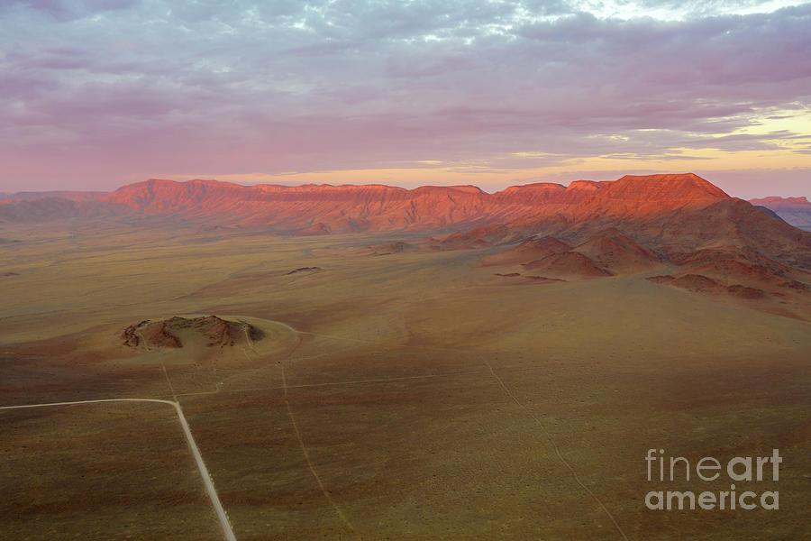Sossusvlei Photograph - Sossusvlei Namibia Sunset Ridge by Mike Reid