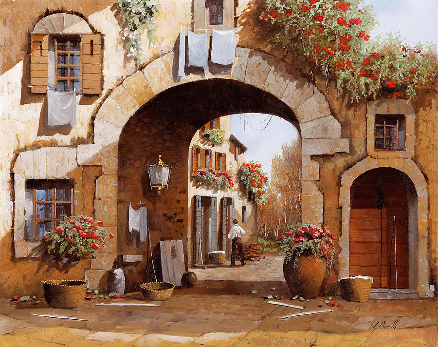 Arch Painting - Sotto Larco by Guido Borelli