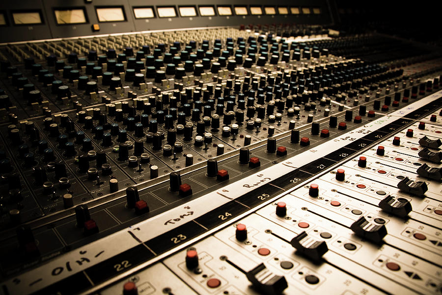 Sound Board In Color Photograph by Halbergman