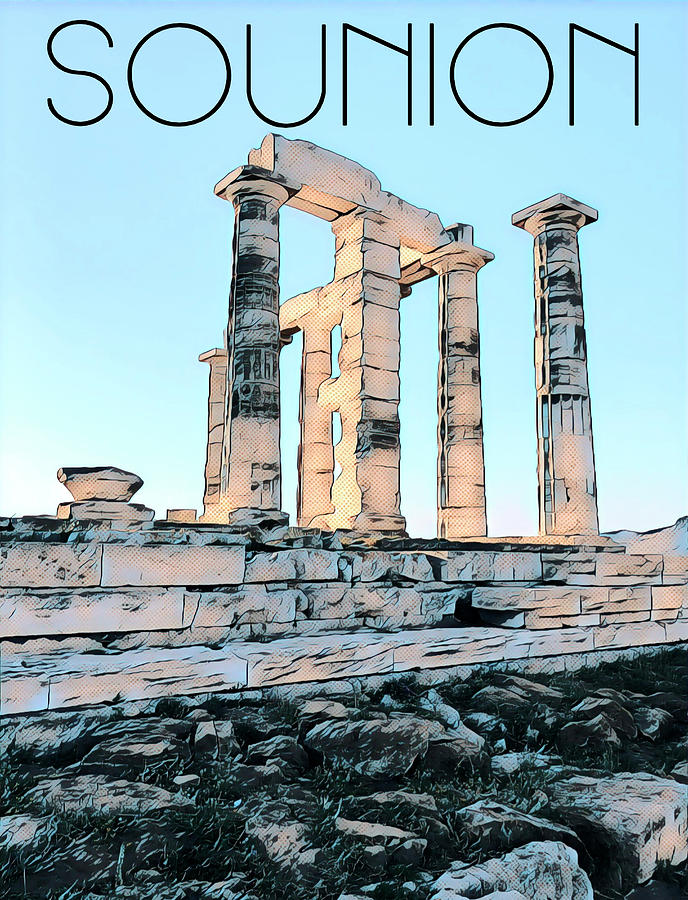 Sounion, in Love with the Med by Nicholas V K