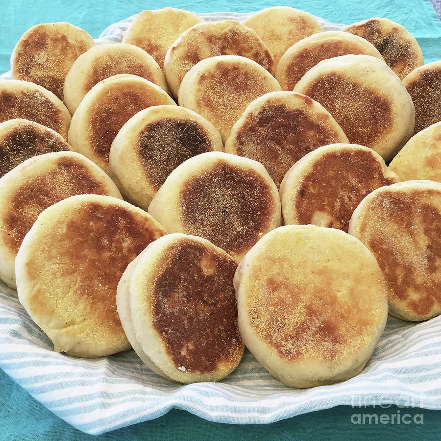 Sourdough English Muffins 2 by Amy E Fraser