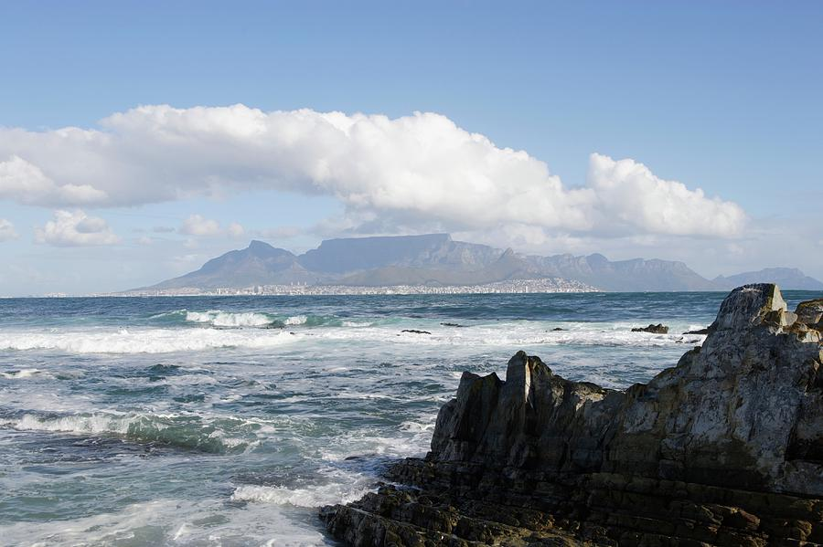 Scenic Photograph - South Africa, Robben Island, View To by Tony Souter