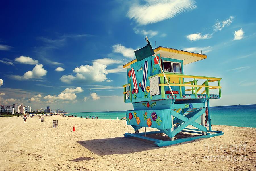 Usa Photograph - South Beach In Miami Florida by S.borisov