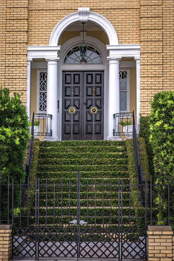 South Carolina - Charleston - Door Up the Stairs by Ron Pate