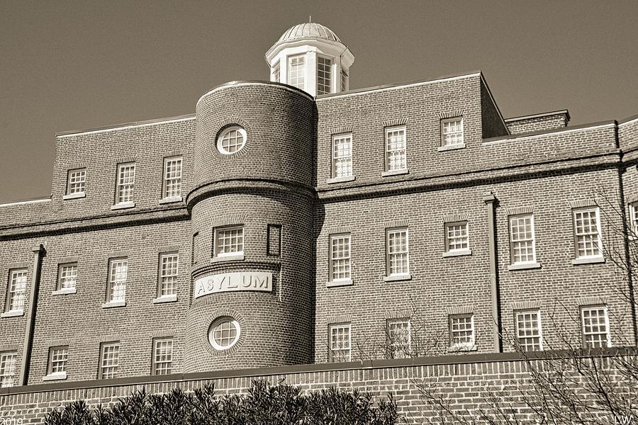 South Carolina State Hospital Asylum Black And White by Lisa Wooten