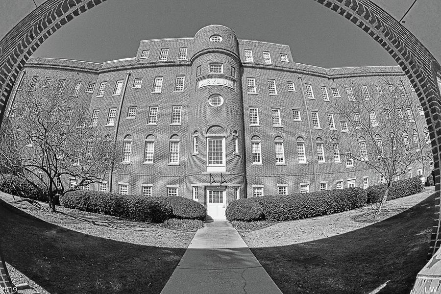South Carolina State Hospital Black And White by Lisa Wooten