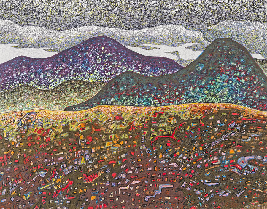 Mountains Drawing - South Helena #1 by Dale Beckman