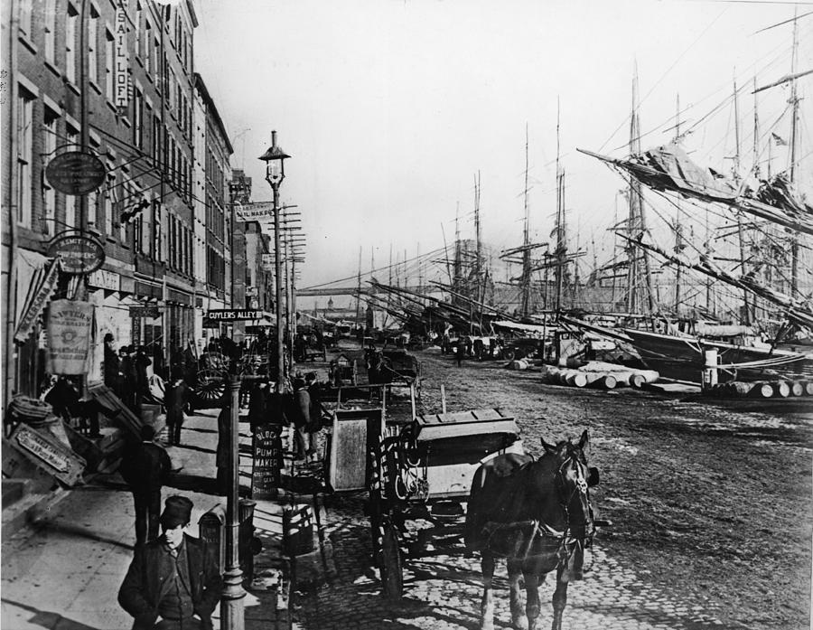 South Street Seaport New York Photograph by Frederic Lewis