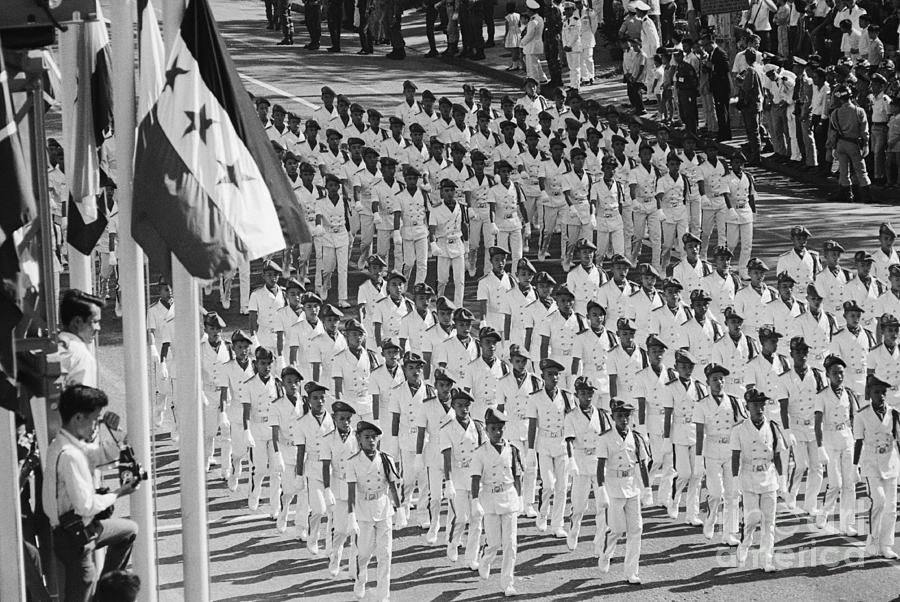 South Vietnamese Cadets Marching Photograph by Bettmann