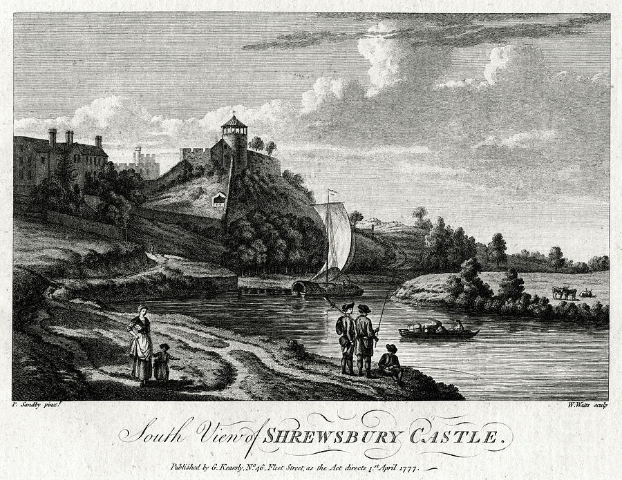 South View Of Shrewsbury Castle Drawing by Print Collector