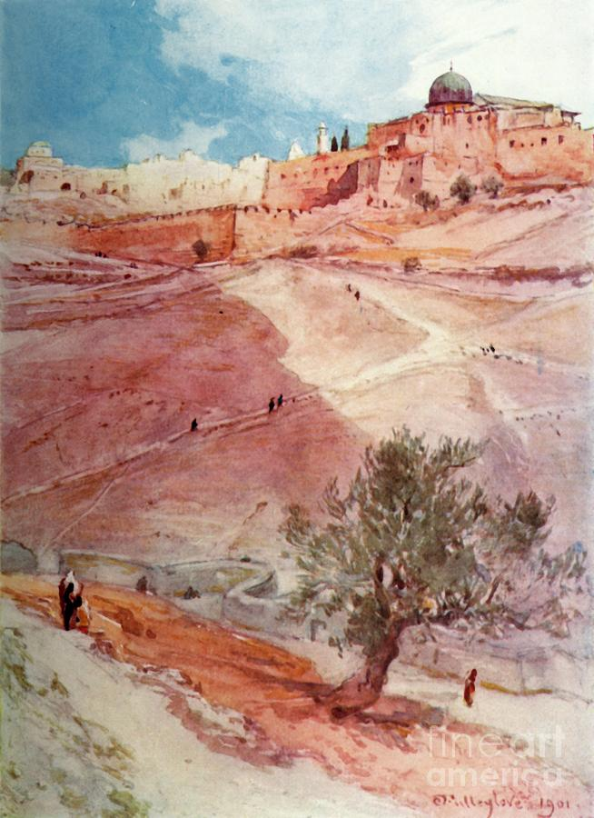 South Wall Of Jerusalem From The North Drawing by Print Collector