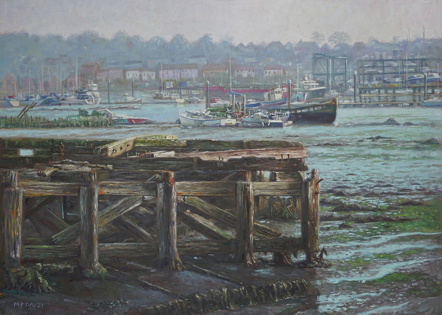 Southampton Northam summer evening across the Itchen by Martin Davey