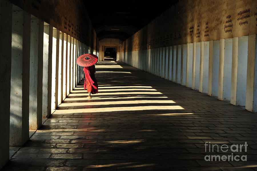 Monks Photograph - Southeast Asian Young Little Buddhist by Mudvayne