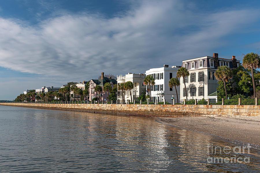 Southern Mansions - Charleston High Battery Photograph