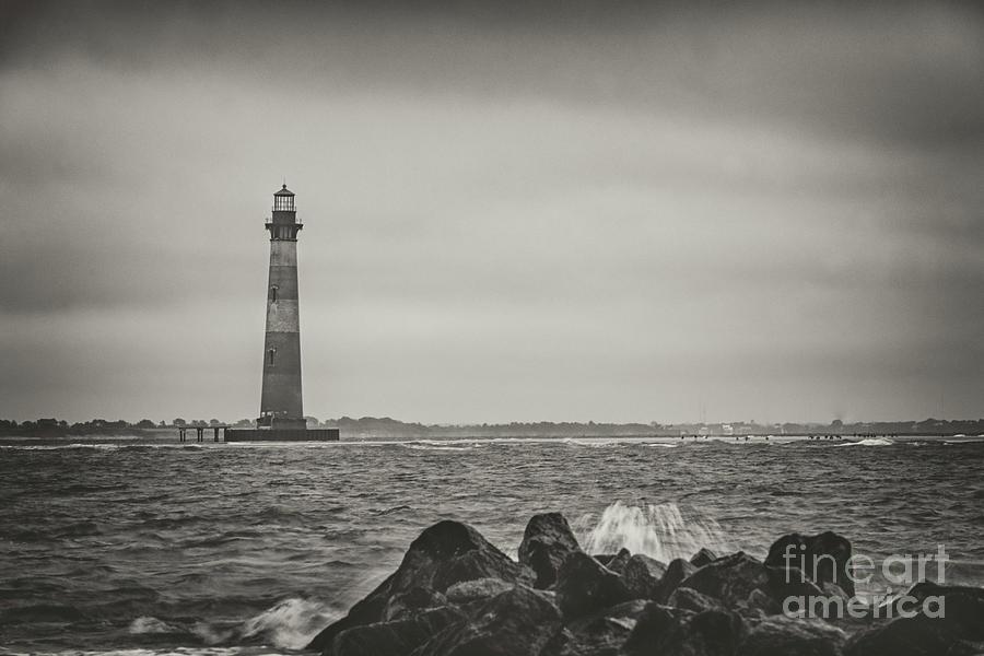 Southern Salt Spray - Morris Island Lighthouse Photograph