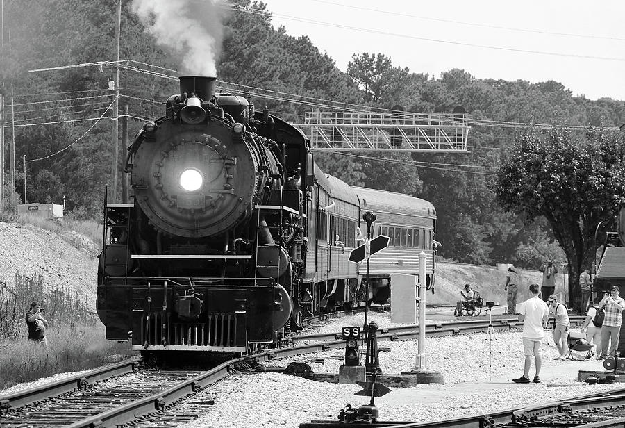 Southern Steam 4501 Leaves Grand Junction B W by Joseph C Hinson