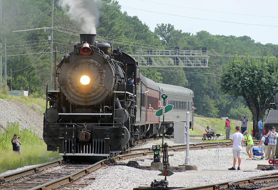Southern Steam 4501 Leaves Grand Junction by Joseph C Hinson
