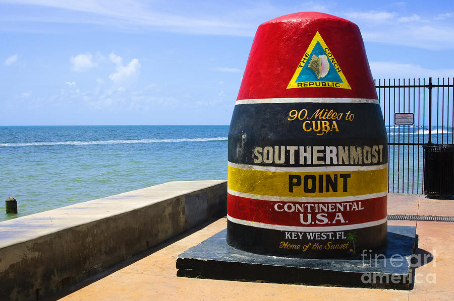 Continental Photograph - Southernmost Point In Continental Usa by Nito