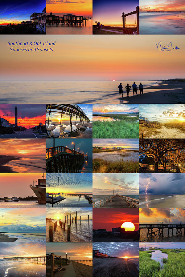 Southport Photograph - Southport/ Oak Island Sunrises And Sunsets by Nick Noble
