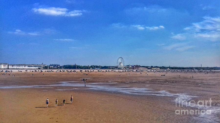 Southport Skyline at the Beach 2 by Joan-Violet Stretch
