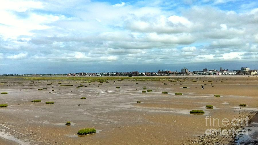 Southport Skyline at The Beach by Joan-Violet Stretch