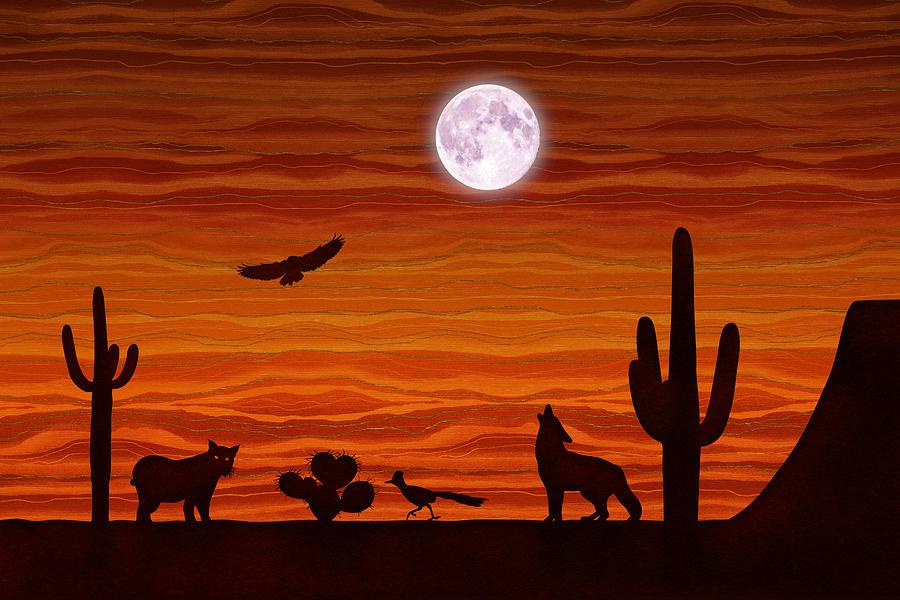 Southwest Desert Silhouette by Debi Dalio