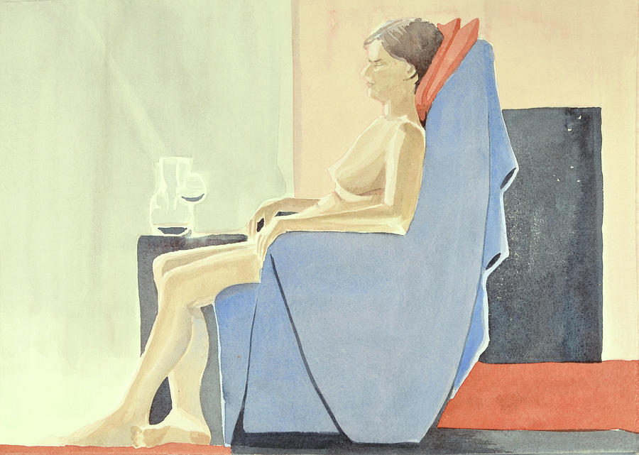 Sovande sittande Sitting asleep 2013 06 15-16_0091 4 MB Up to 61x91 cm  by Marica Ohlsson