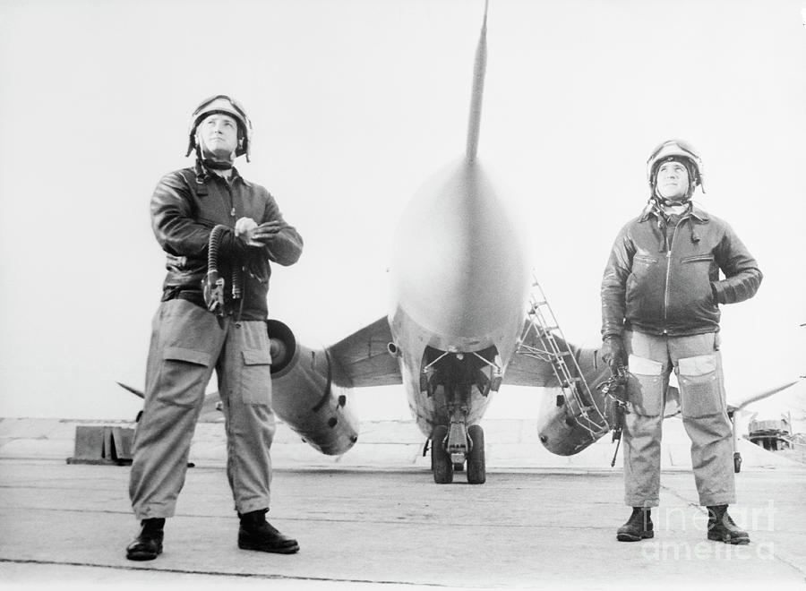 Soviet Air Force Captains With Airplane Photograph by Bettmann