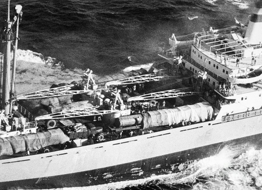 Soviet Freighter With Missiles Photograph by Bettmann