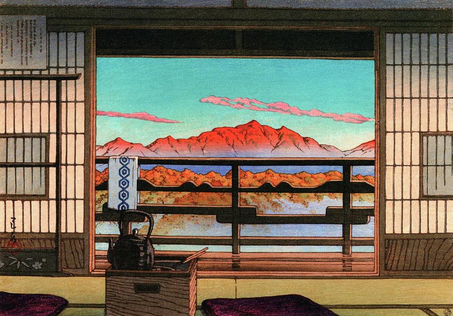 Ukiyoe Painting - Spa Hotel Morning - Digital Remastered Edition by Kawase Hasui