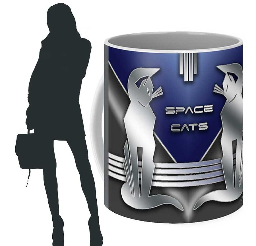 Space Cats Mug by Chuck Staley