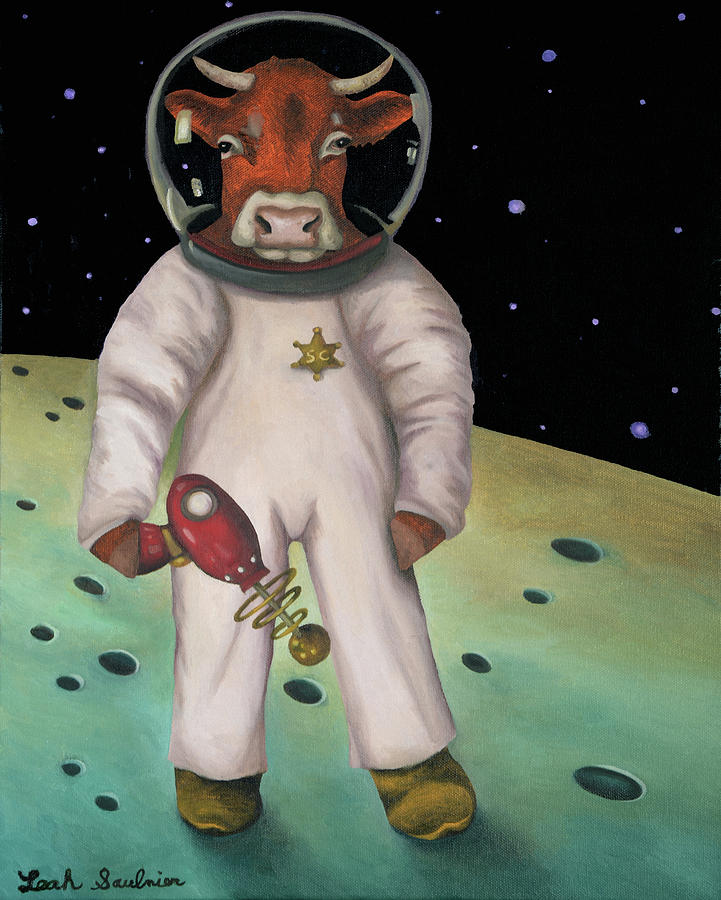 Space Cowboy by Leah Saulnier The Painting Maniac