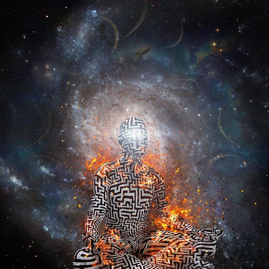 Space Meditation Digital Art