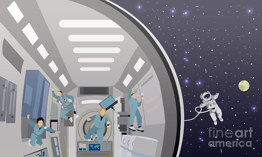 No Digital Art - Space Mission Concept Vector by Skypics Studio