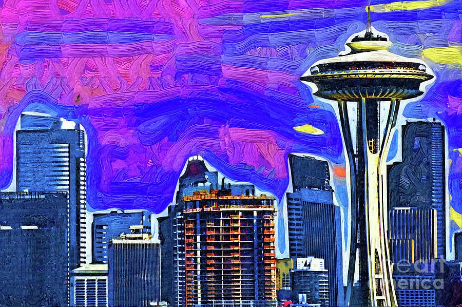 Space Needle Fauvism Style by Kirt Tisdale