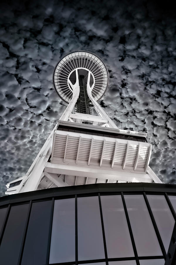 SPACE NEEDLE POPCORN SKY - SEATTLE by Daniel Hagerman