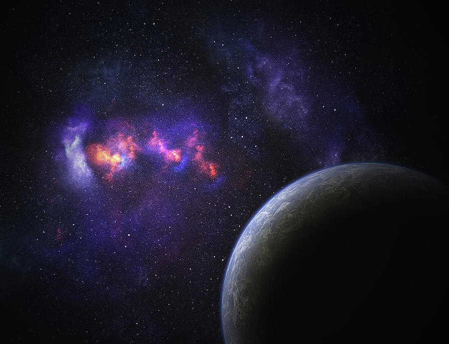 Space Planet Photograph by Sololos