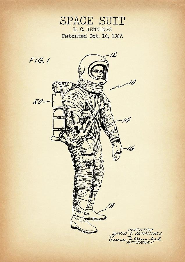 Space Suit Vintage Patent